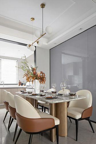 富裕型130平米三室两厅现代简约风格餐厅效果图