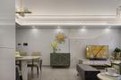 富裕型100平米三室两厅轻奢风格客厅装修案例