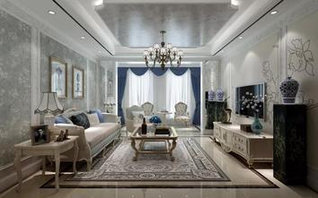 10-15万140平米三室一厅地中海风格客厅装修图片大全