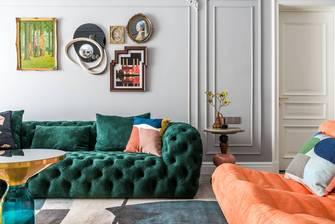 经济型110平米法式风格客厅装修图片大全