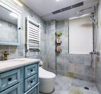 富裕型100平米三室两厅欧式风格卫生间图