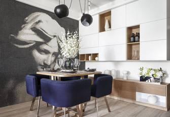 15-20万120平米三室一厅北欧风格餐厅装修案例