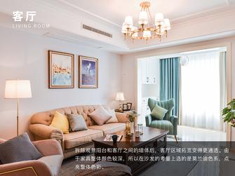 富裕型四室两厅美式风格客厅设计图