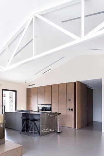 20万以上140平米三室一厅工业风风格餐厅效果图