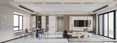 豪华型130平米三室两厅现代简约风格客厅效果图