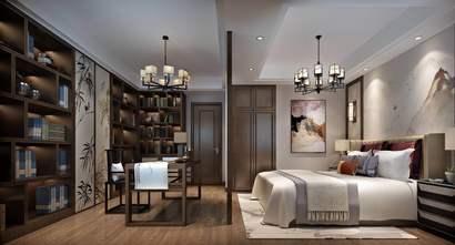 140平米四中式风格卧室装修案例