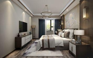 富裕型110平米三室一厅中式风格卧室图片