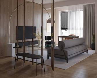 5-10万60平米一居室北欧风格玄关图片大全