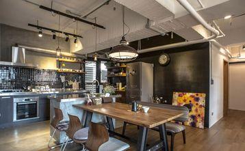 富裕型140平米三室一厅工业风风格餐厅欣赏图