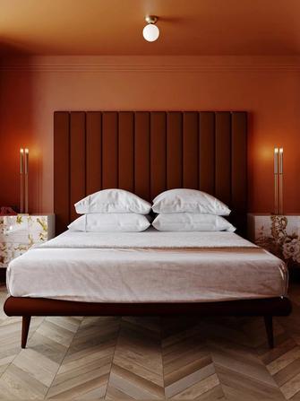富裕型120平米三室两厅新古典风格卧室欣赏图