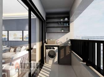 5-10万90平米三室两厅中式风格阳台装修图片大全