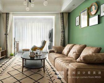 100平米三室两厅新古典风格客厅图
