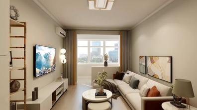 经济型60平米一居室现代简约风格客厅图片大全