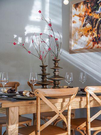 富裕型70平米田园风格餐厅装修图片大全