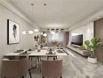 经济型120平米三室两厅现代简约风格餐厅图片