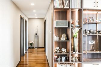 豪华型120平米三室两厅混搭风格走廊图片大全