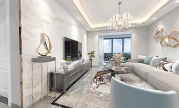 15-20万120平米三室两厅混搭风格客厅装修案例