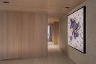 富裕型130平米三室两厅现代简约风格走廊图