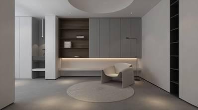 豪华型140平米三室一厅日式风格书房图