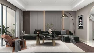3万以下140平米三室两厅现代简约风格客厅图