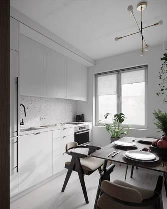 富裕型30平米以下超小户型北欧风格餐厅设计图