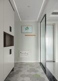 富裕型90平米三室两厅北欧风格走廊装修效果图