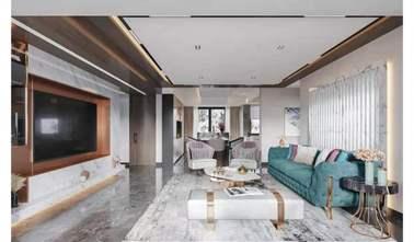 130平米三室一厅新古典风格客厅装修案例