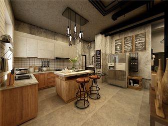 20万以上140平米复式工业风风格厨房设计图