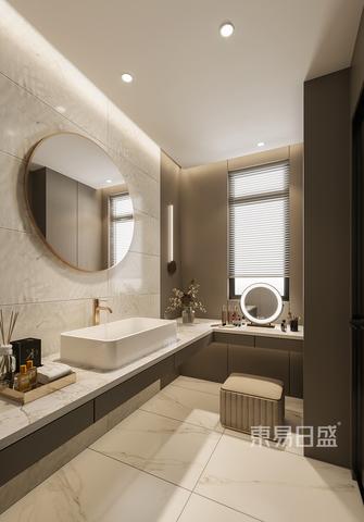 豪华型140平米四室四厅现代简约风格卫生间设计图
