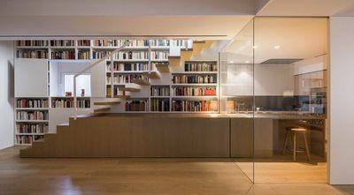 富裕型90平米复式美式风格楼梯间装修案例