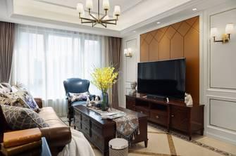 富裕型140平米四室三厅现代简约风格客厅装修图片大全