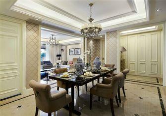 富裕型三室两厅欧式风格餐厅图