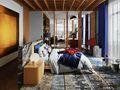 20万以上120平米三英伦风格卧室设计图