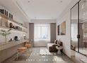 富裕型120平米三室两厅日式风格书房装修效果图