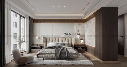 140平米三室两厅港式风格卧室图