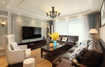 90平米三美式风格客厅图片大全