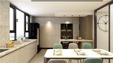 富裕型110平米三室一厅英伦风格餐厅设计图