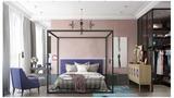富裕型140平米三室两厅北欧风格卧室效果图