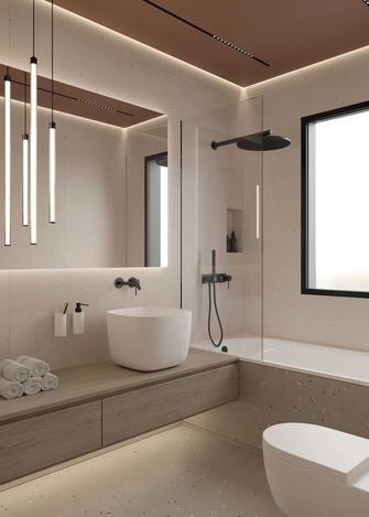 20万以上140平米四室两厅现代简约风格卫生间装修效果图
