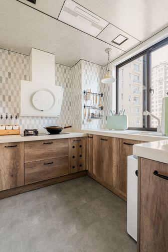 富裕型140平米三室两厅日式风格厨房装修案例