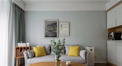 3-5万80平米现代简约风格客厅效果图