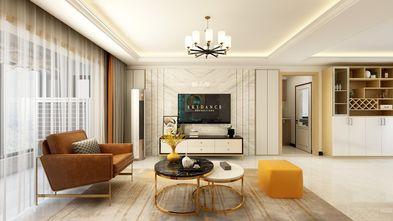 富裕型120平米三室一厅现代简约风格客厅图片