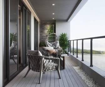 20万以上110平米美式风格阳台欣赏图