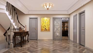 20万以上140平米复式美式风格走廊装修图片大全