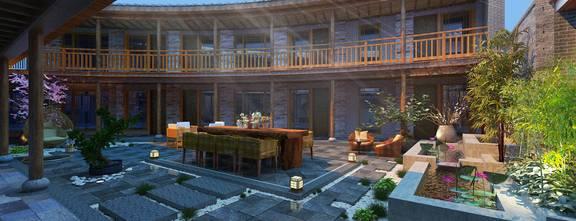 140平米中式风格阳台图