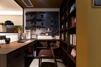 富裕型三室一厅轻奢风格书房装修图片大全