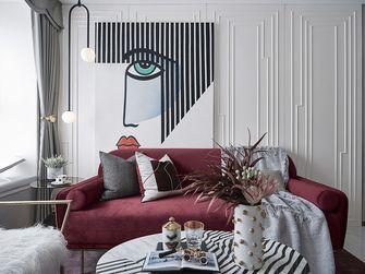 富裕型80平米北欧风格客厅装修图片大全