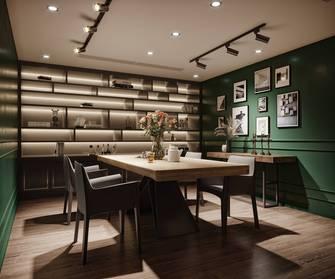 140平米别墅美式风格书房装修案例