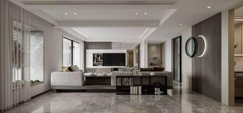 140平米四轻奢风格客厅图