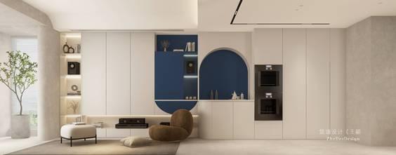 富裕型80平米三室三厅日式风格客厅设计图